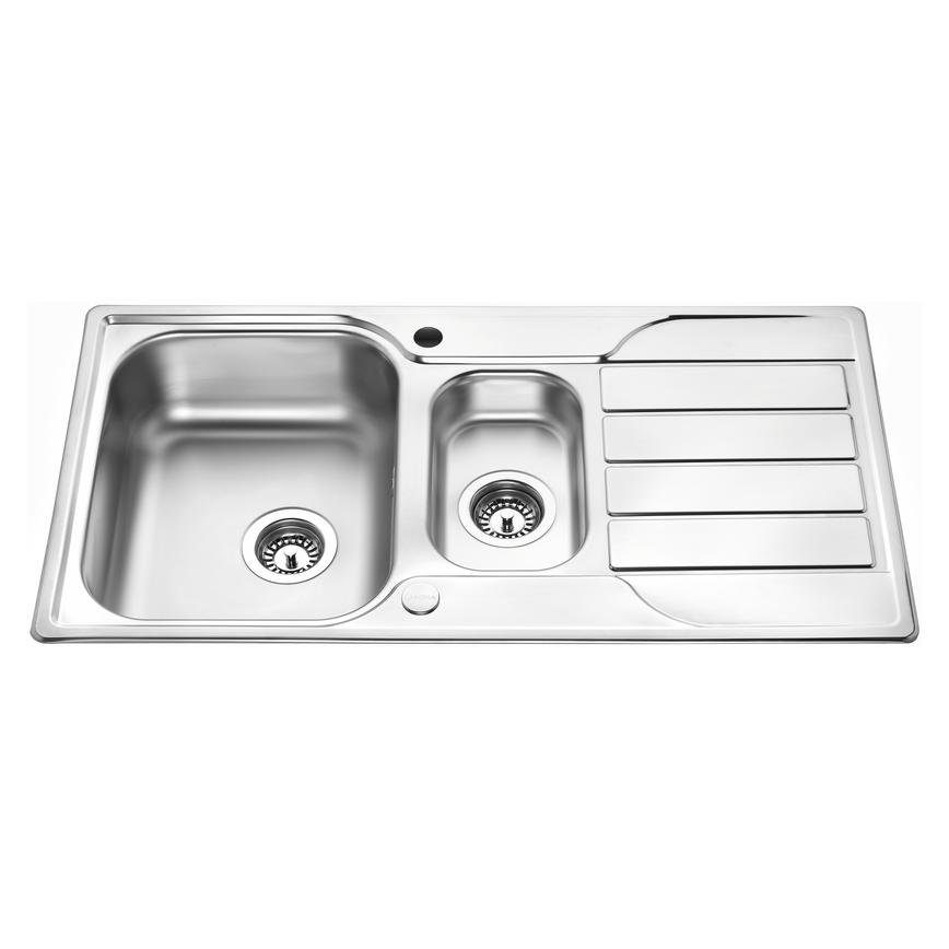 Lamona Rumworth 1.5 Bowl Inset Stainless Steel Kitchen Sink