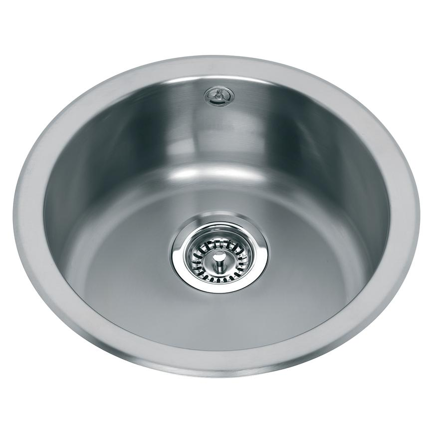 Lamona SNK1420 Round Single Bowl Inset Stainless Steel Kitchen Sink