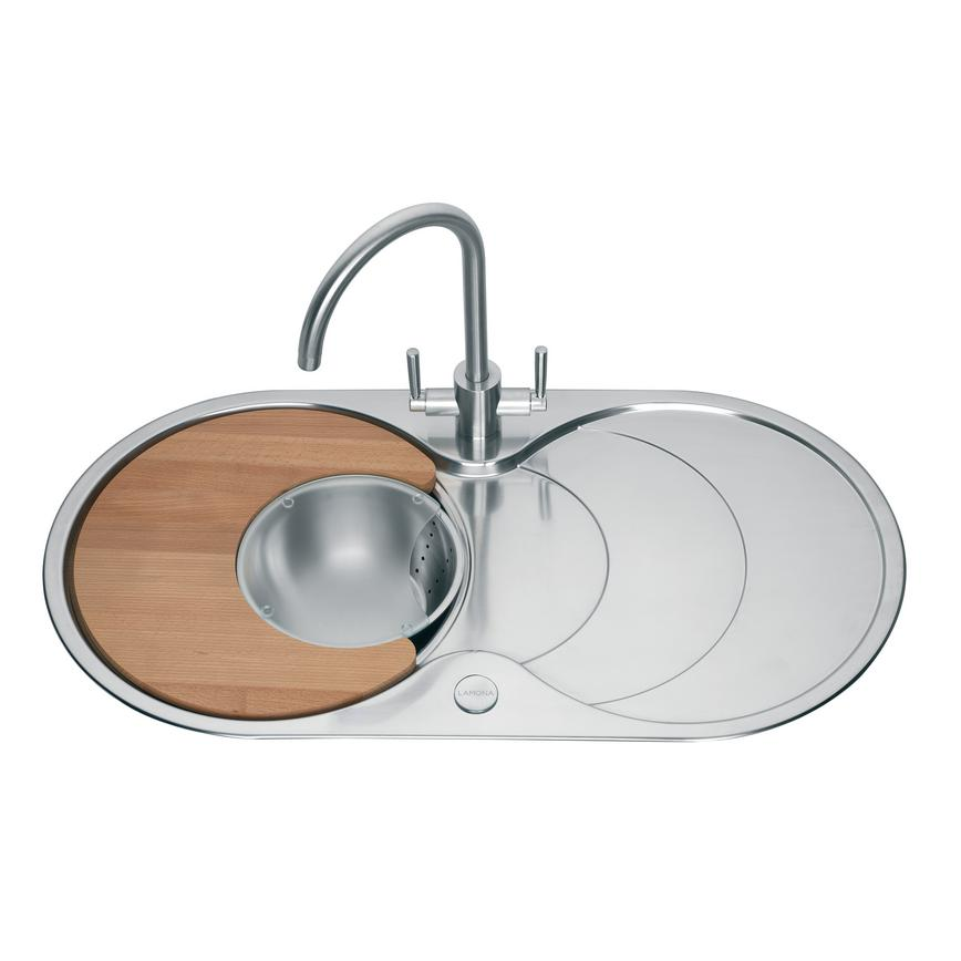 Lamona Round Bowl Sink with Drainer with Accessories Pack