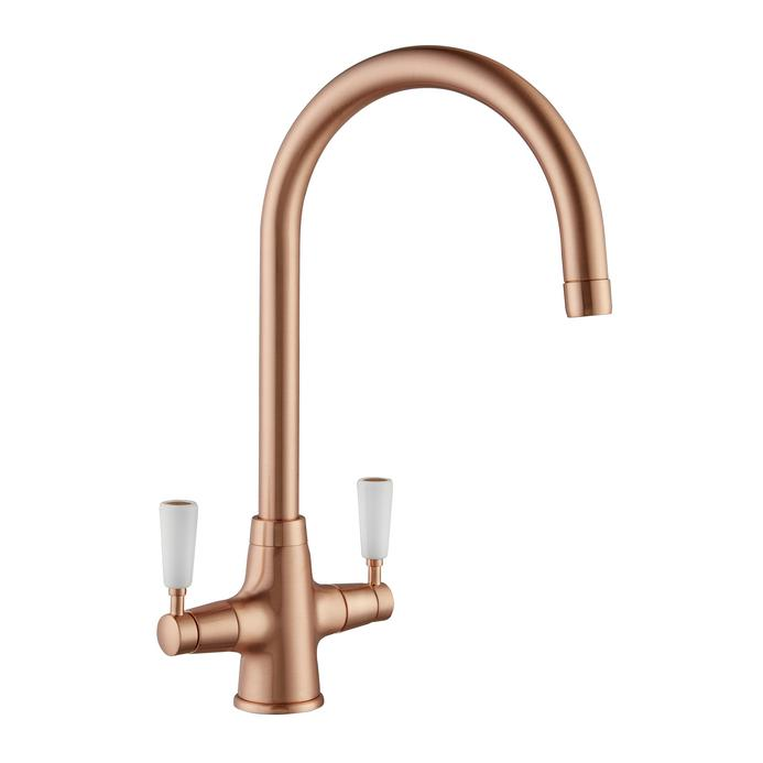 Lamona Victorian Brushed Copper Monobloc Mixer Tap
