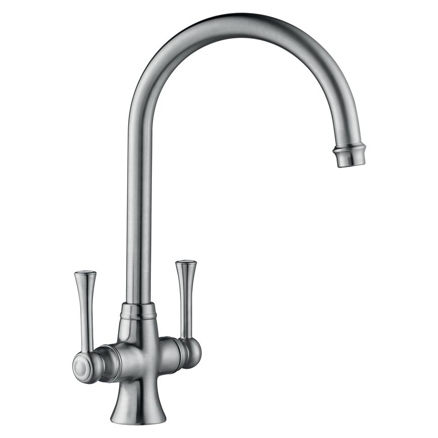 Lamona Adra Brushed Steel Mono Mixer Tap