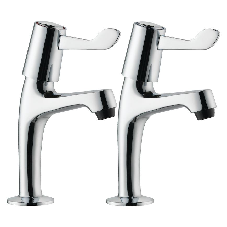 Lamona Chrome Lever Pillar Taps