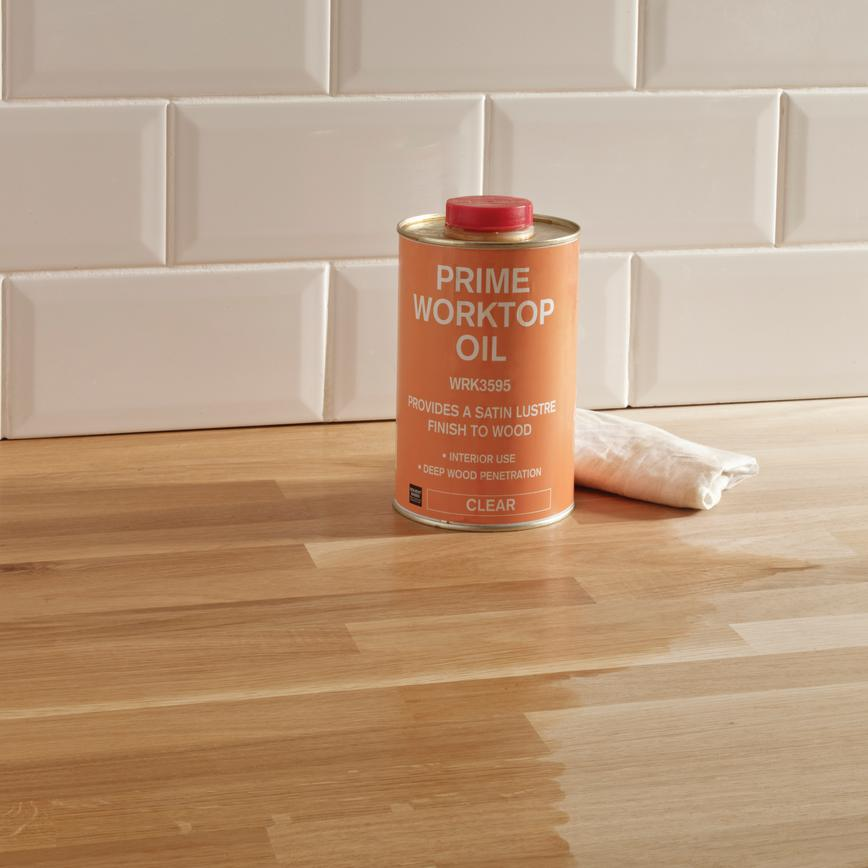 1 Ltr Clear Satin Worktop Oil Howdens