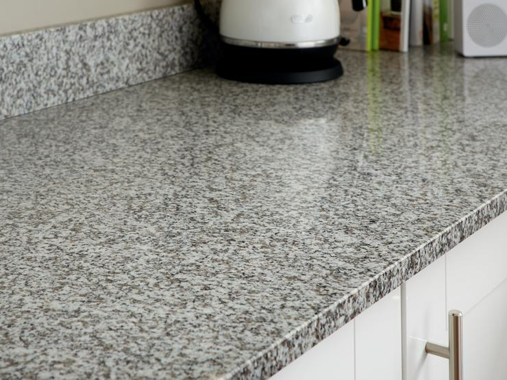 White Granite Worktop with upstand