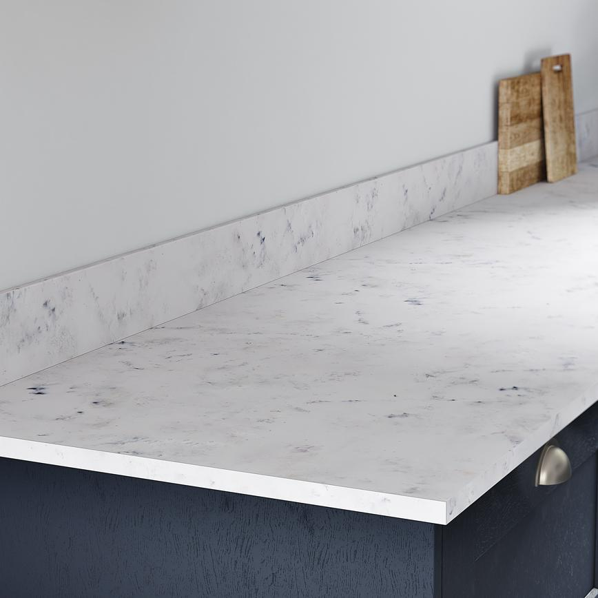 Storm Grey Marble Worktop and Upstand