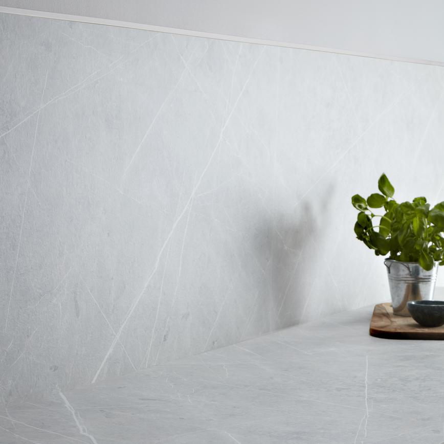 Light Grey Marble Laminate with Backboard