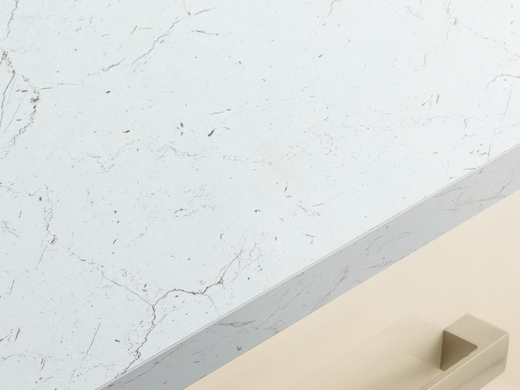 White/Grey Marble Effect cutout