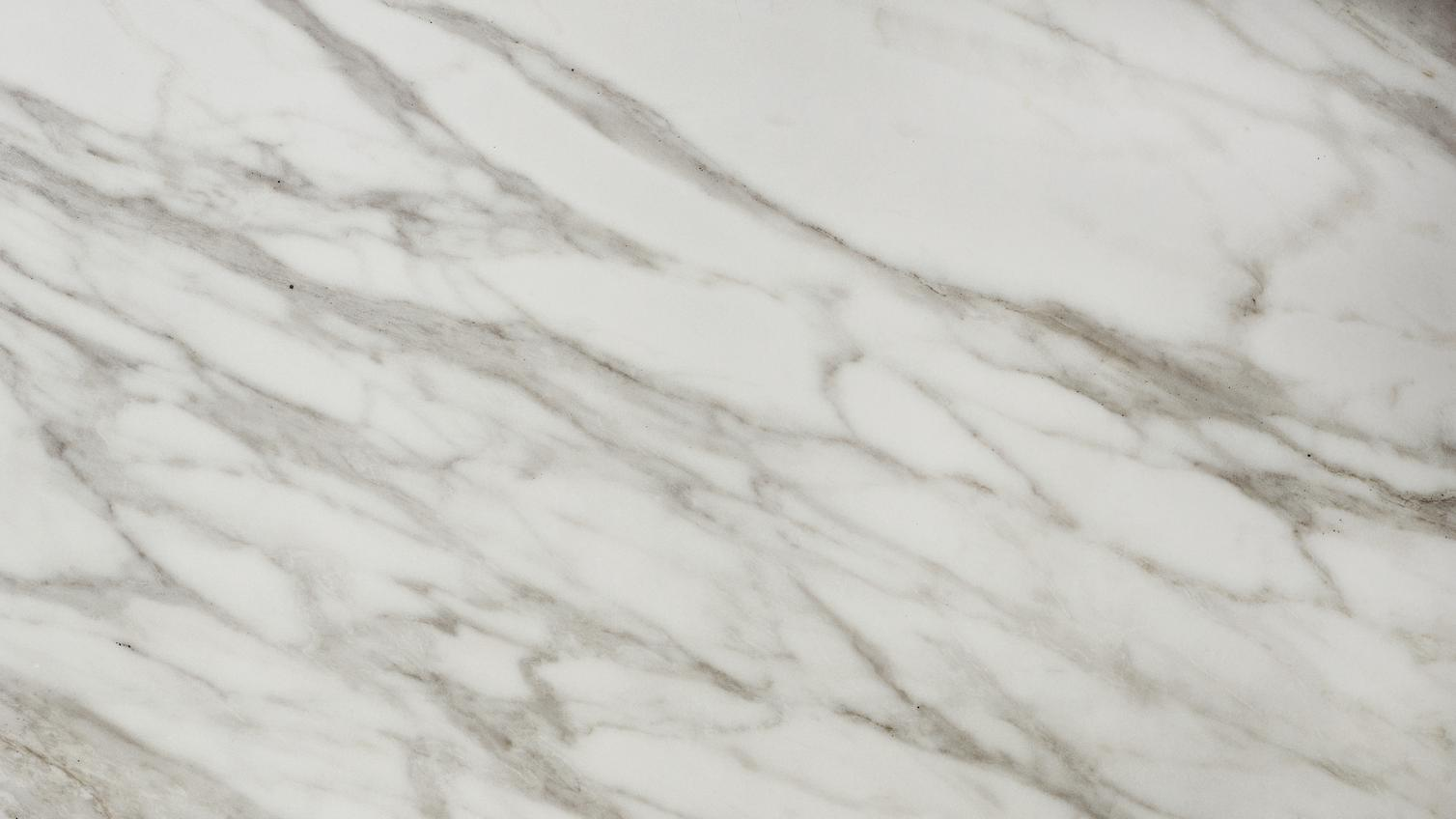 Howdens 2 4m X 38mm White Marble Effect Square Edge
