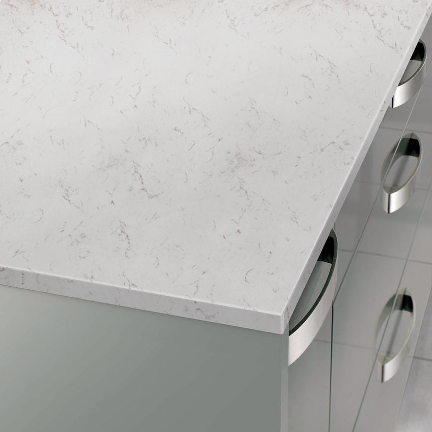 Silestone 2 8m X 20mm Polished White Marble Quartz Worktop
