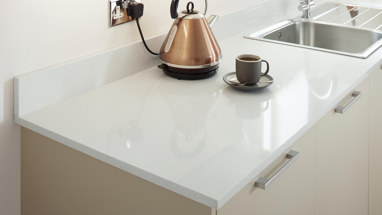 Silestone 1 4m X 100mm Polished White Quartz Upstand Howdens