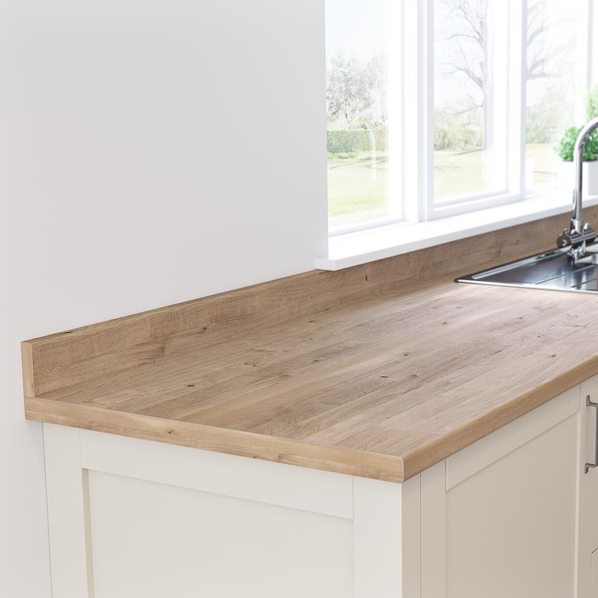 Natural Oak Worktop and Upstand