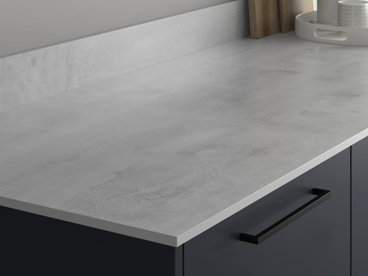 Urban Grey Concrete Effect Compact Laminate Worktop and Upstand