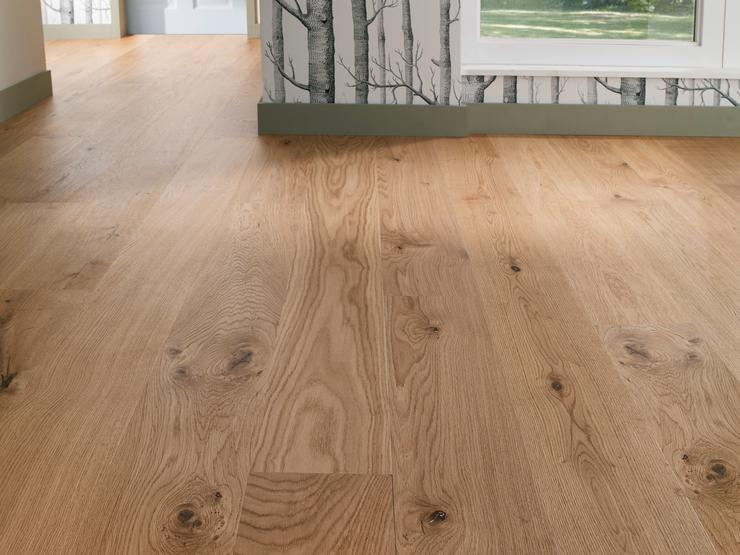 Pre-Finished Oak Single Plank Wide (W180mm) (Flooring)