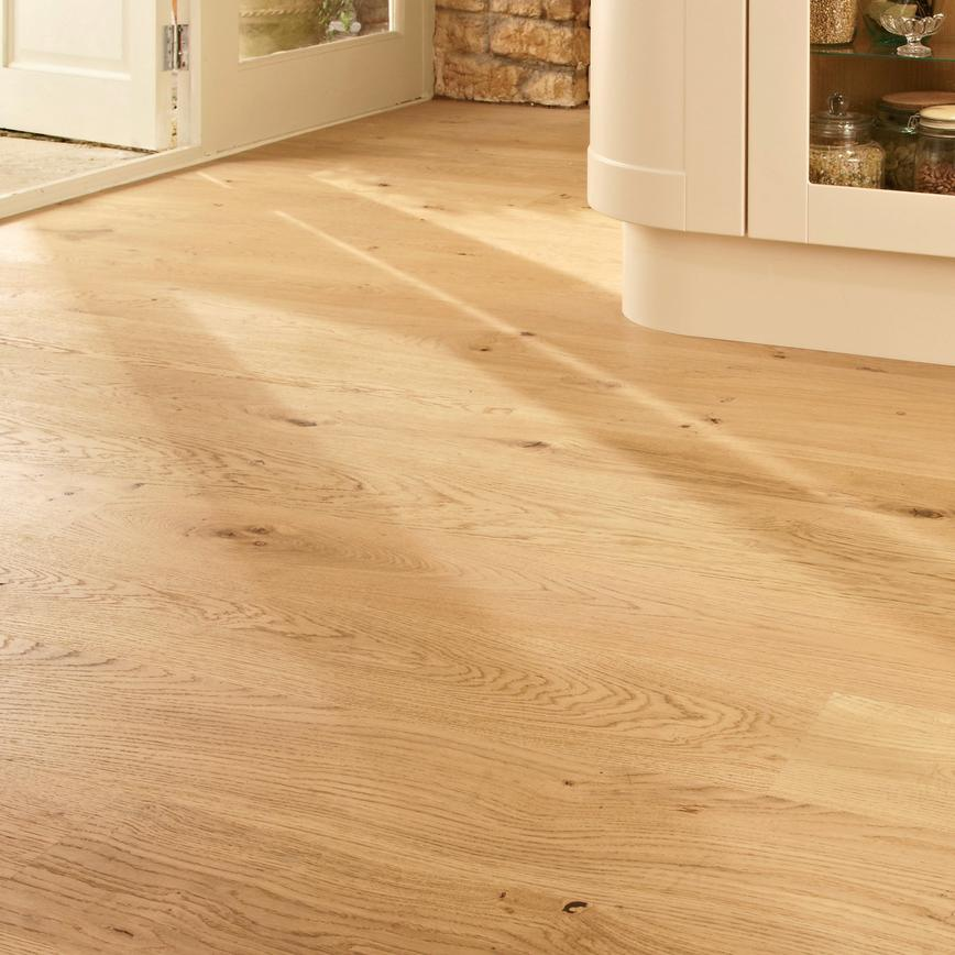 Howdens Fast Fit Pre Finished Oak Single Strip Real Wood Flooring