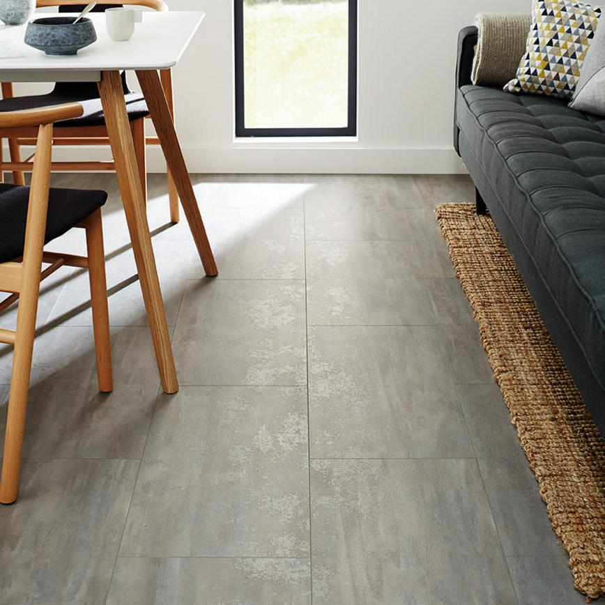 Howdens Professional Fast-Fit V Groove Grey Stone Tile