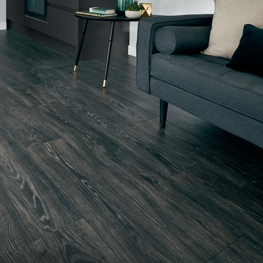 Howdens Professional Fast-Fit V Groove Black Oak Flooring