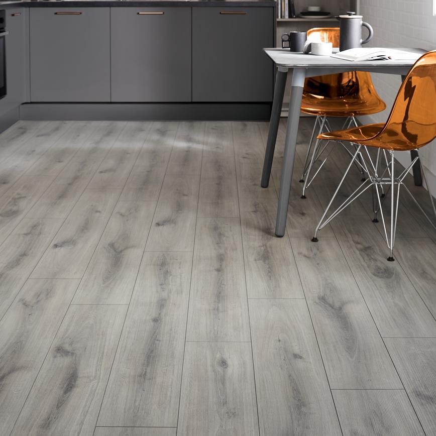 Howdens Professional Fast Fit V Groove Grey Oak Flooring 2