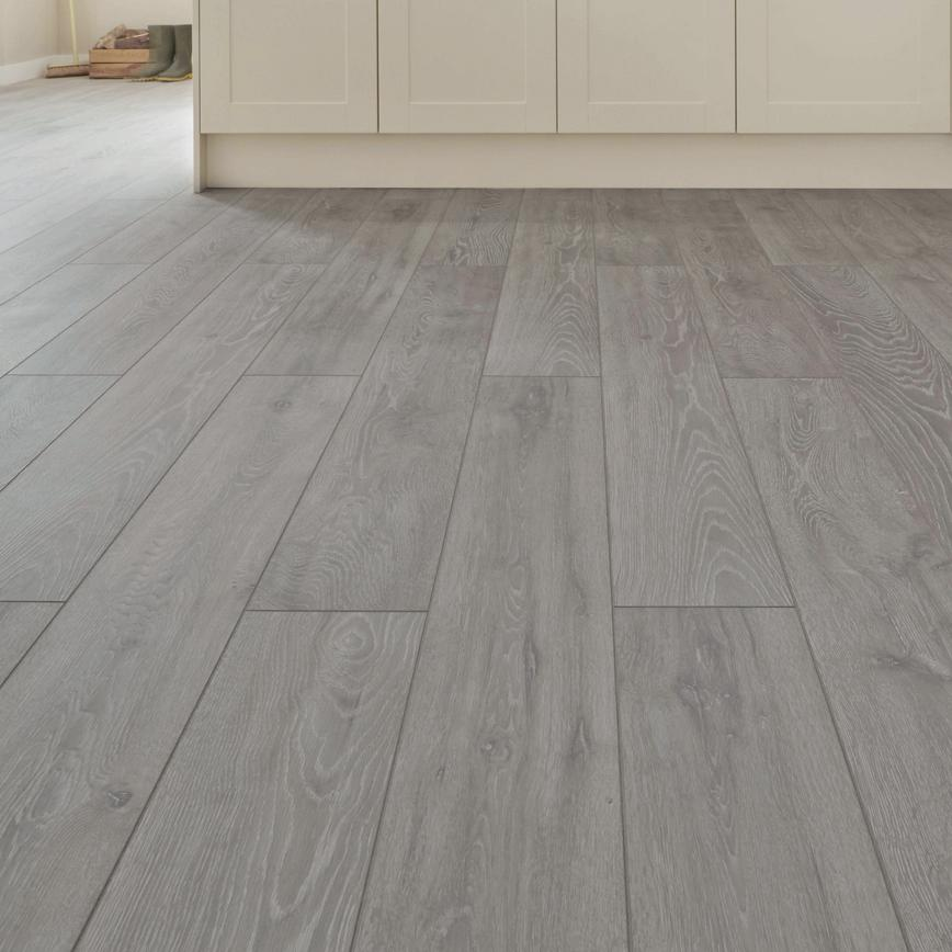 Light Grey Oak (Howdens Professional Fast Fit V Groove Flooring)