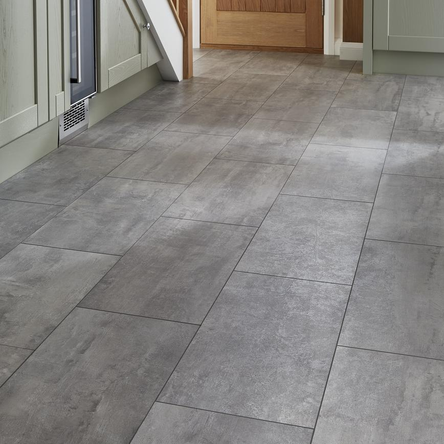 Can You Use Laminate Flooring On Concrete: Howdens Professional Fast-Fit V Groove Concrete Tile