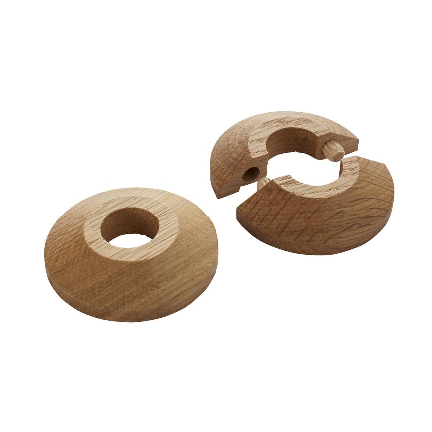 F Solid Oak Pipe Rose (Pack of 2)