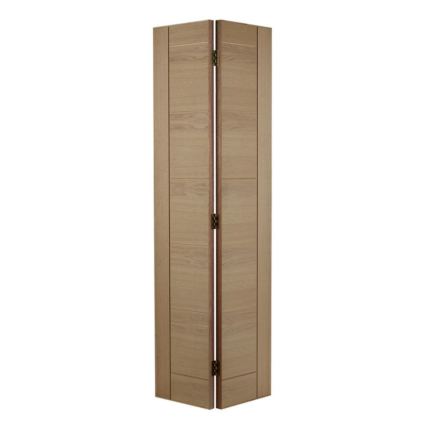 Howdens Linear Oak Bi-Fold Door