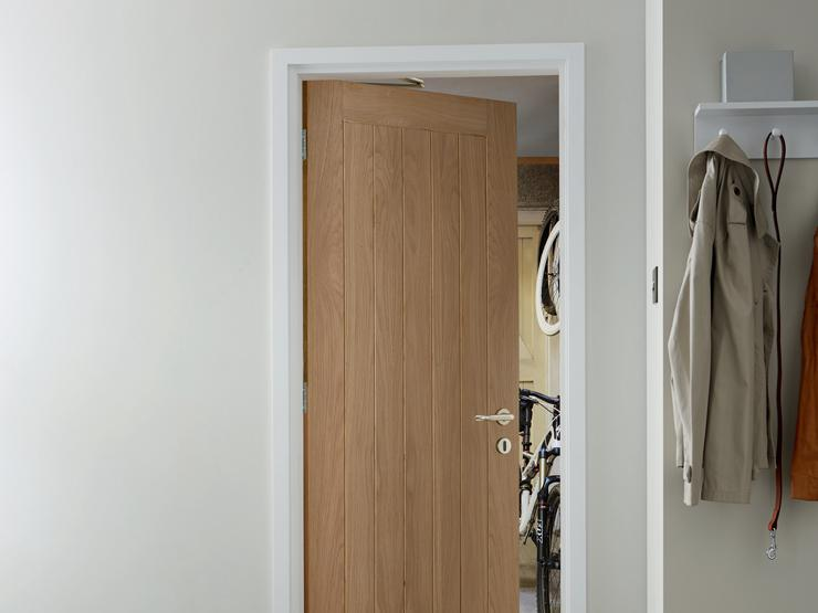 Pre-finished Holdenby Oak - Integral Garage  Flat Entrance Door (2)