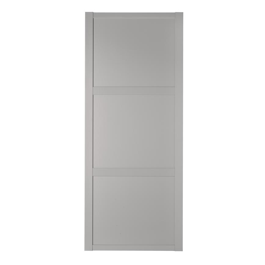 Howdens Shaker Dove Grey Frame Dove Grey Panel Sliding Wardrobe Door
