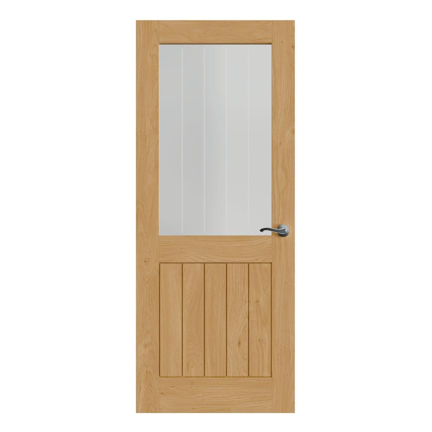 Howdens Holdenby Oak Pre-finished Glazed Door