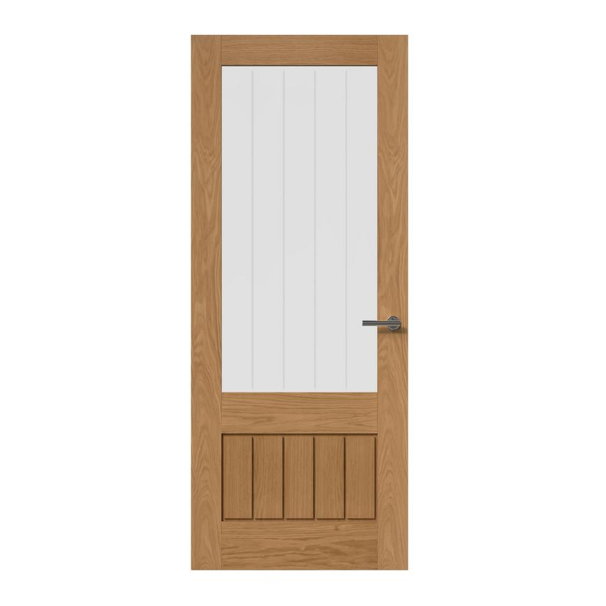 Howdens Dordogne Oak Pre-finished Glazed Door