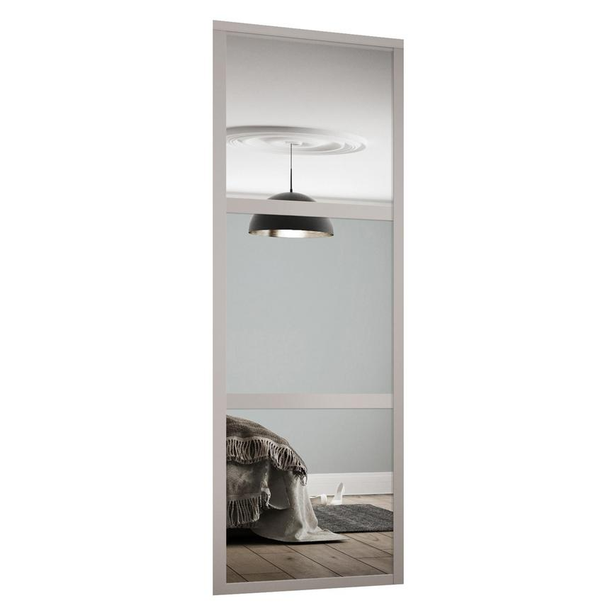 Mirrored Shaker 3 Panel Cashmere Internal Sliding Wardrobe Door