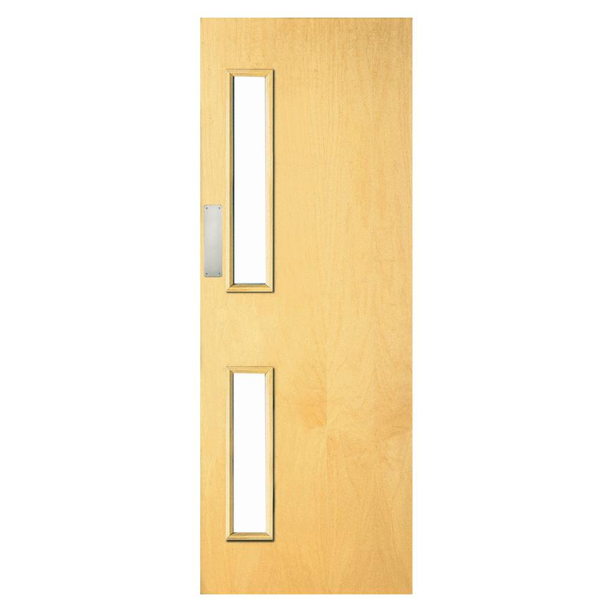 Howdens Heyford Ash Veneer Flush Pre-finished Glazed Fire Door FD30