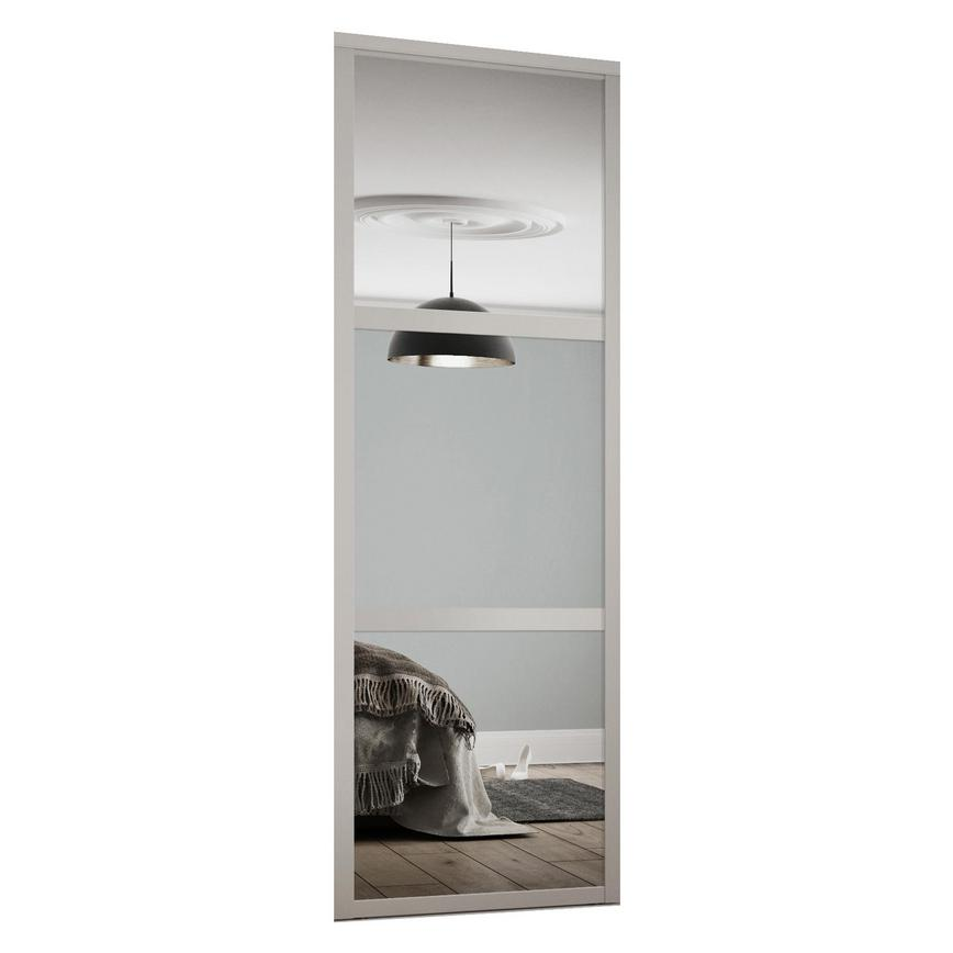Dove Grey shaker 3 panel and mirror Sliding Wardrobe Door