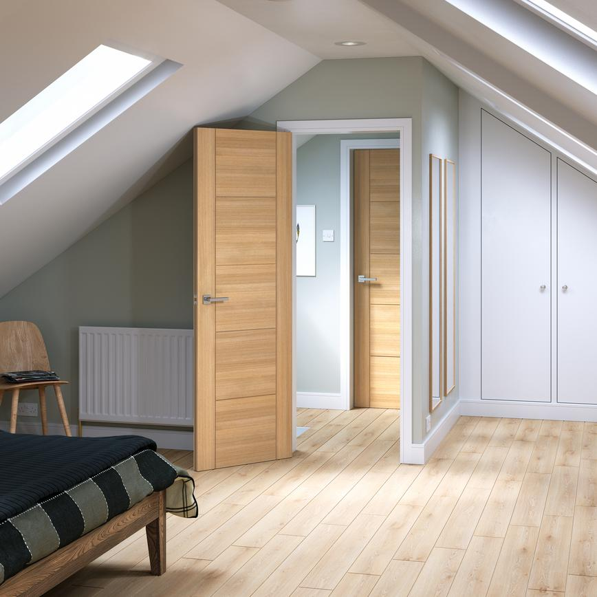 Daytona FD30 Oak door in a loft conversion