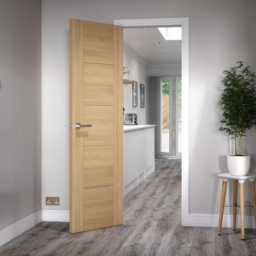 Daytona Oak door leading to a kitchen