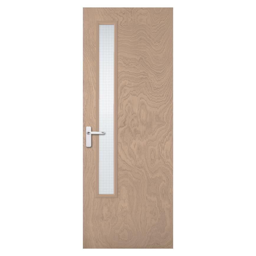 Howdens Spey Flush 20G Glazed Fire Door FD30