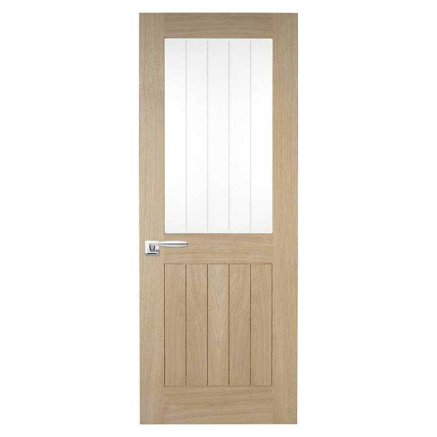 Howdens Holdenby Oak Glazed Door
