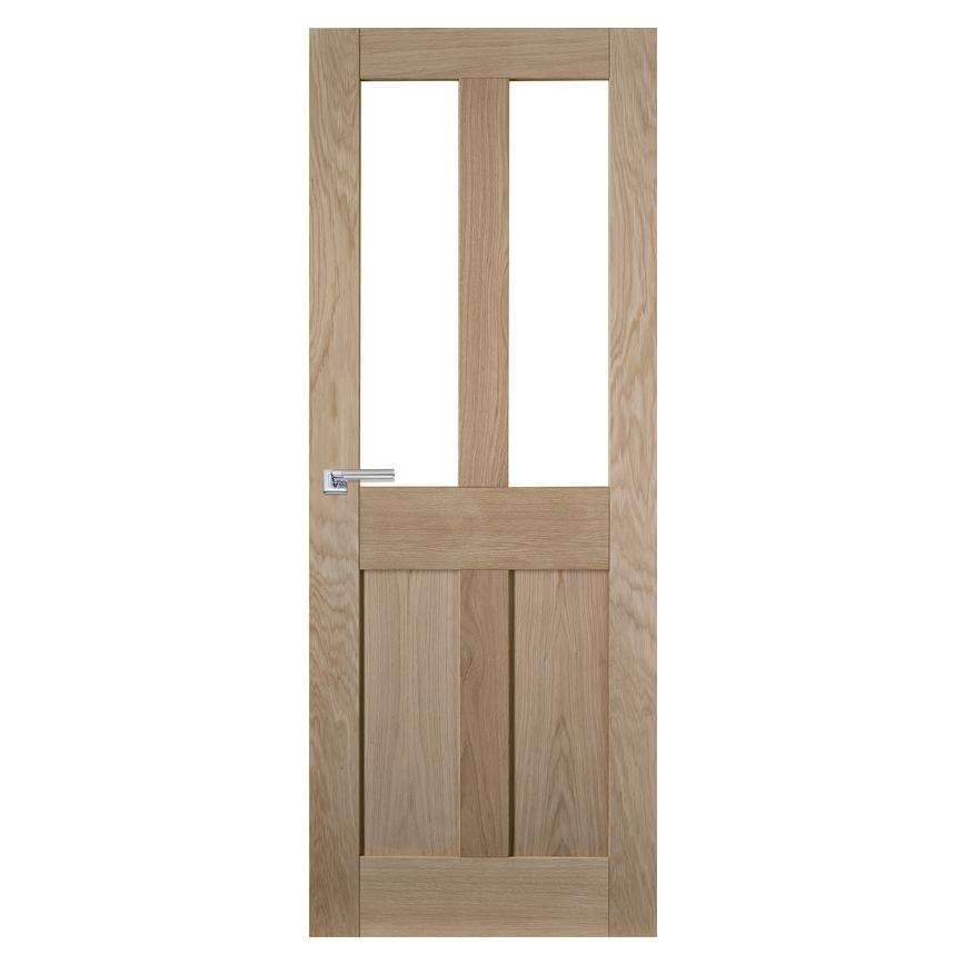 Howdens Burford Oak 4 Panel Glazed Door