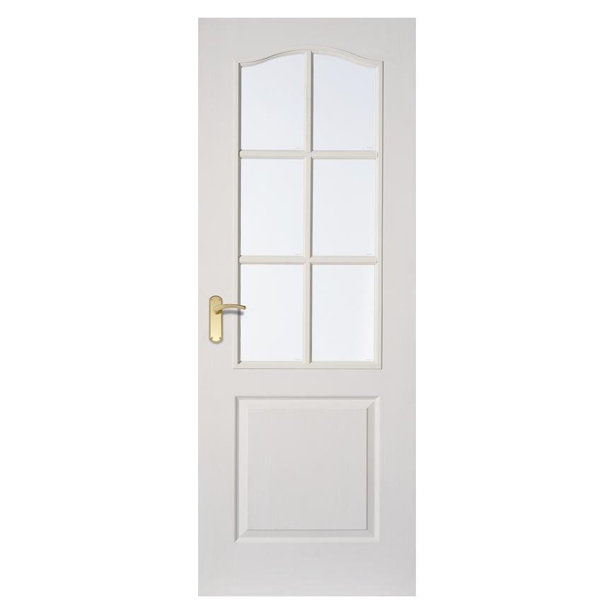 Howdens Arched Top Grained Moulded Glazed Door