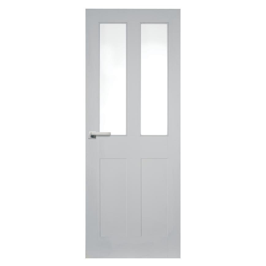 Howdens Burford Smooth 4 Panel 2 Light Moulded Glazed Door