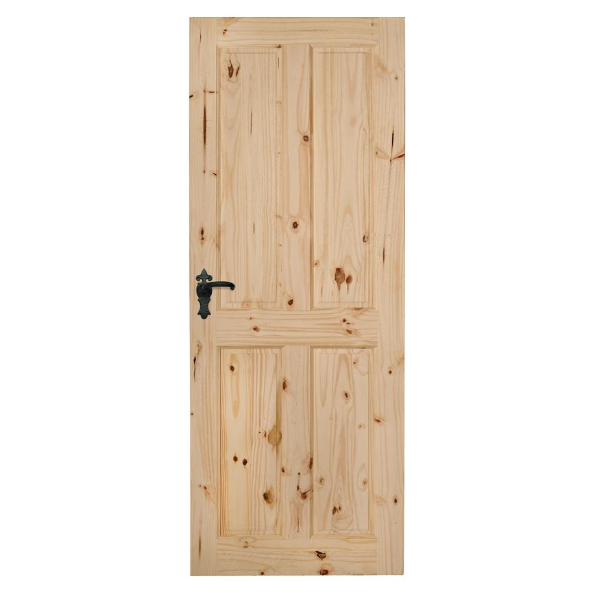 Howdens Pembrey Knotty Pine 4 Panel Softwood Door
