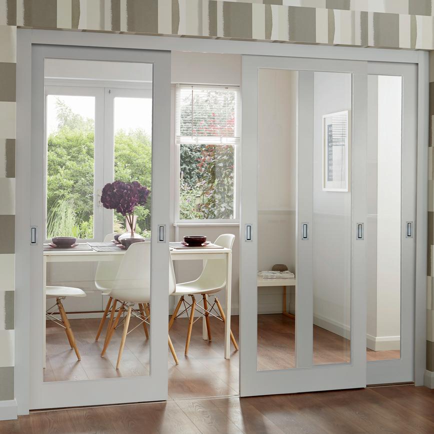 Pattern Ten Clear Pine Glazed Internal Door Howdens Joinery