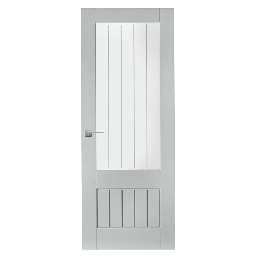 Howdens Dordogne White Primed Glazed Door