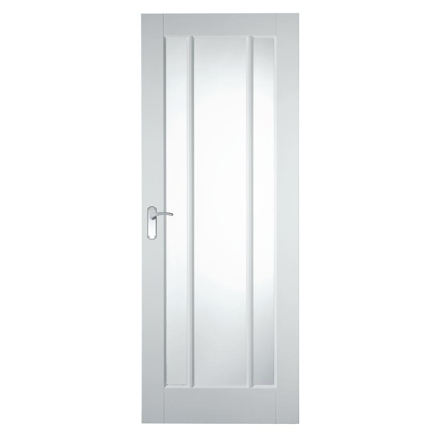 Howdens Worcester White Primed Glazed Door