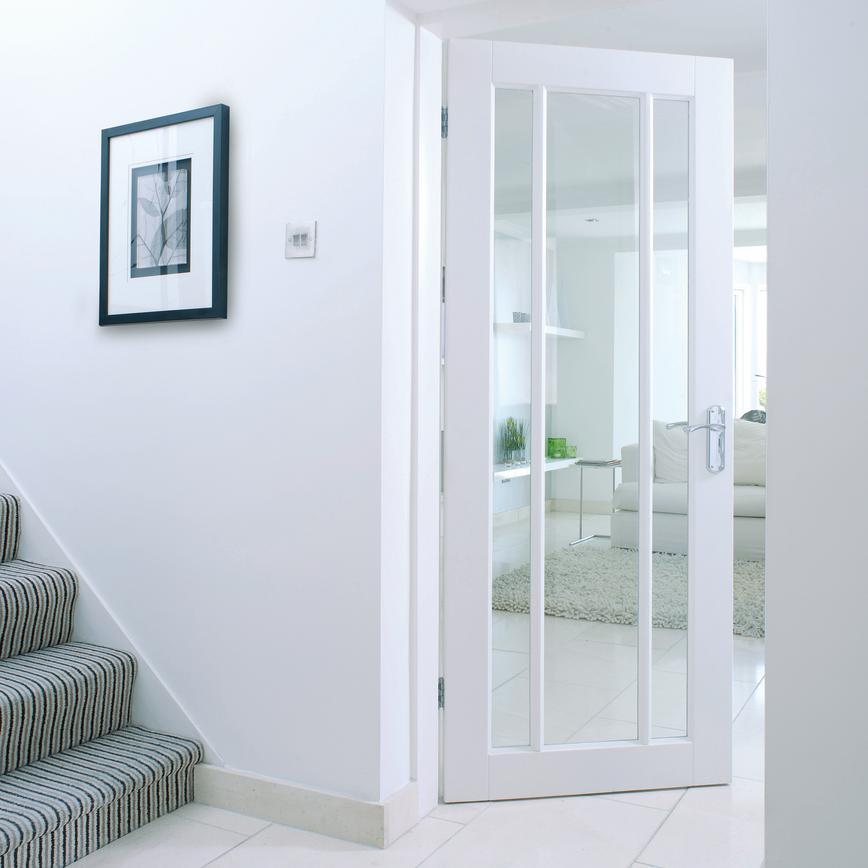 Worcester Primed Glazed Internal Door