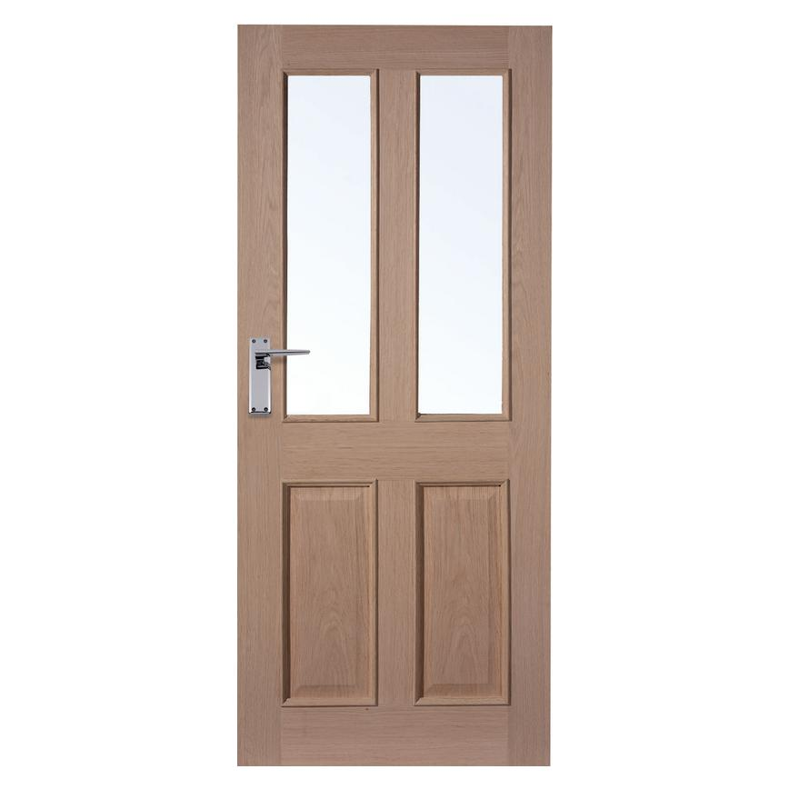 Howdens Rockingham Oak 4 Panel Glazed Door