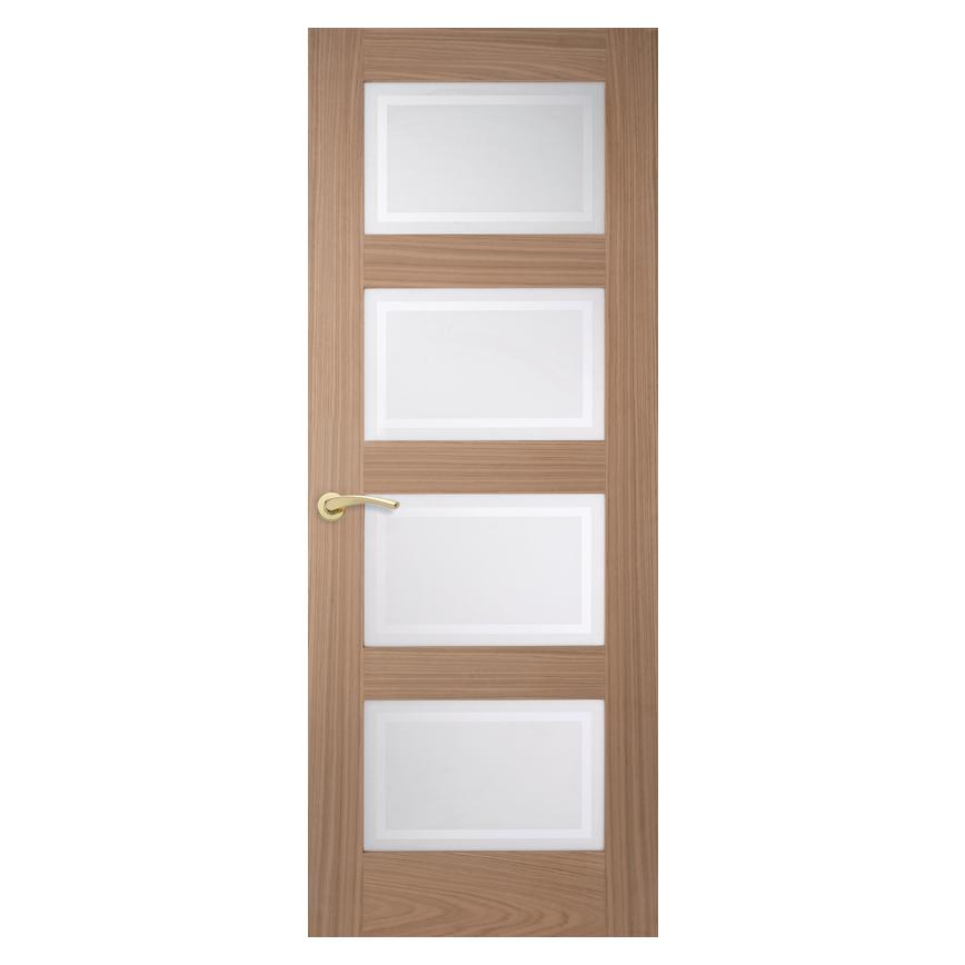 Howdens Shaker Oak 4 Panel Glazed Door
