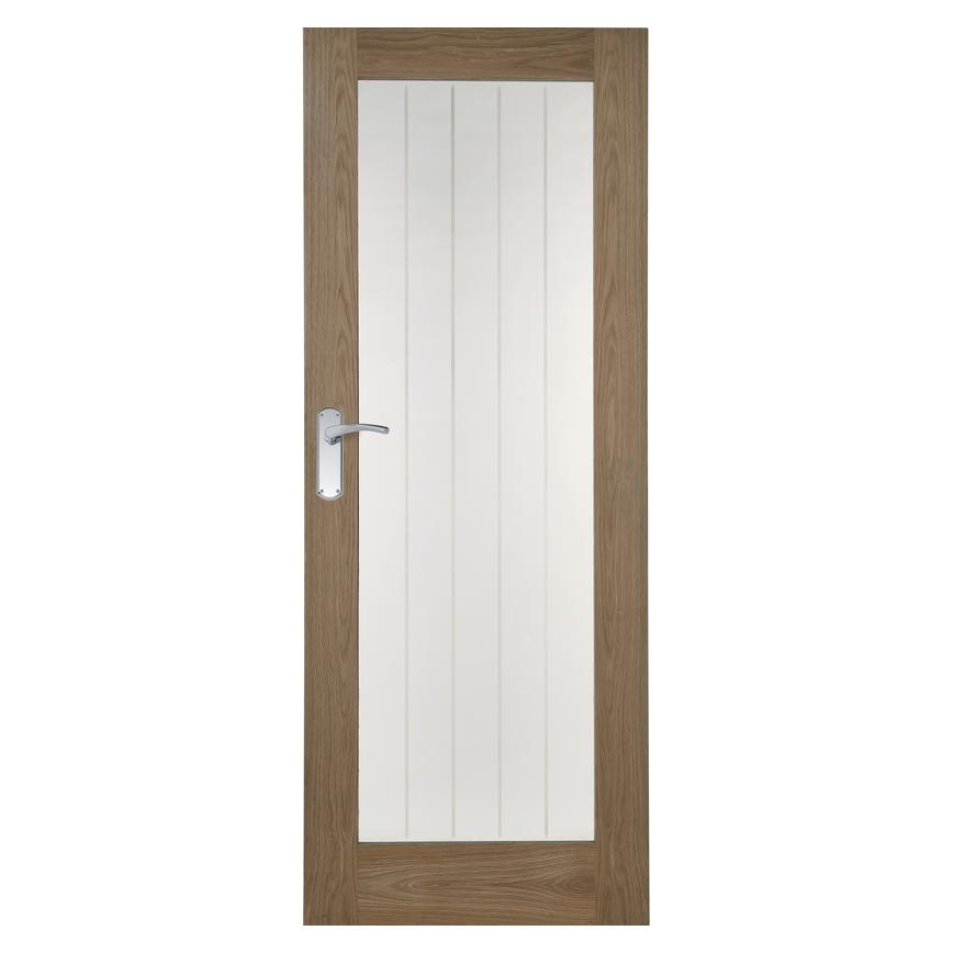 Howdens Genoa Oak Glazed Door