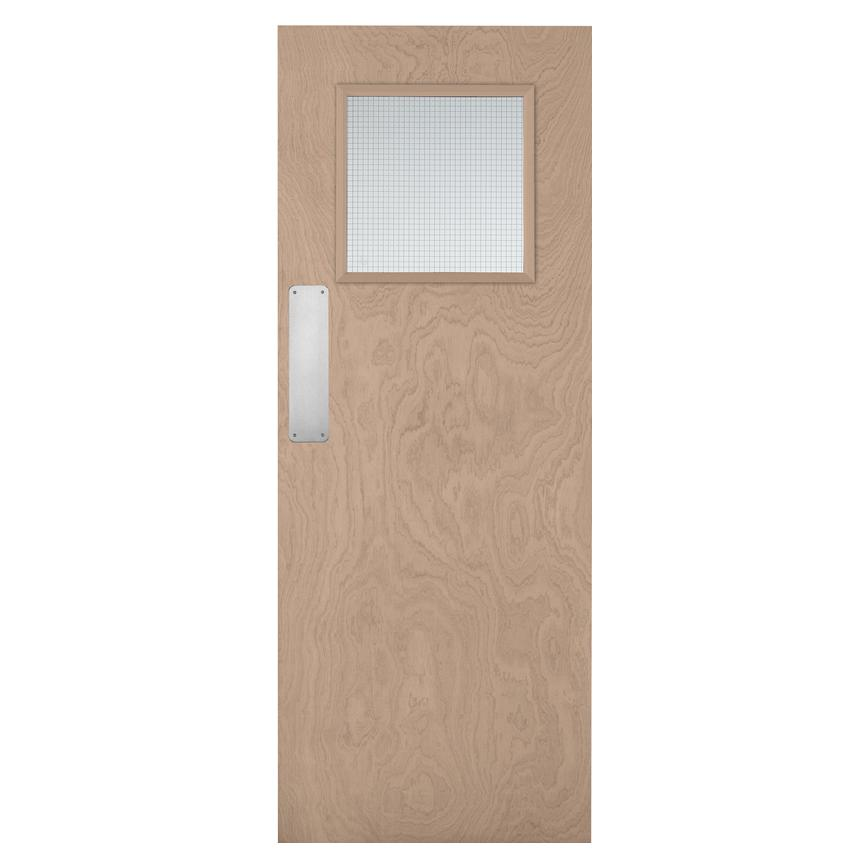 Howdens Spey Plywood G/O Glazed Fire Door FD30
