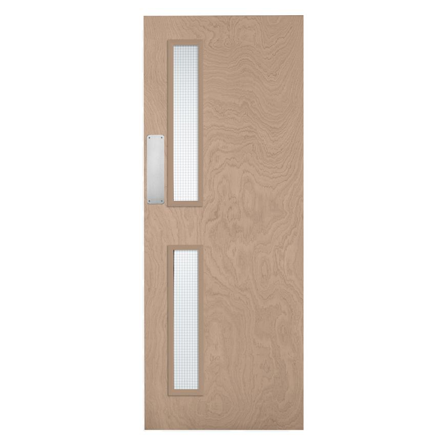 Howdens Spey Flush Veneered 16G Glazed Fire Door FD30