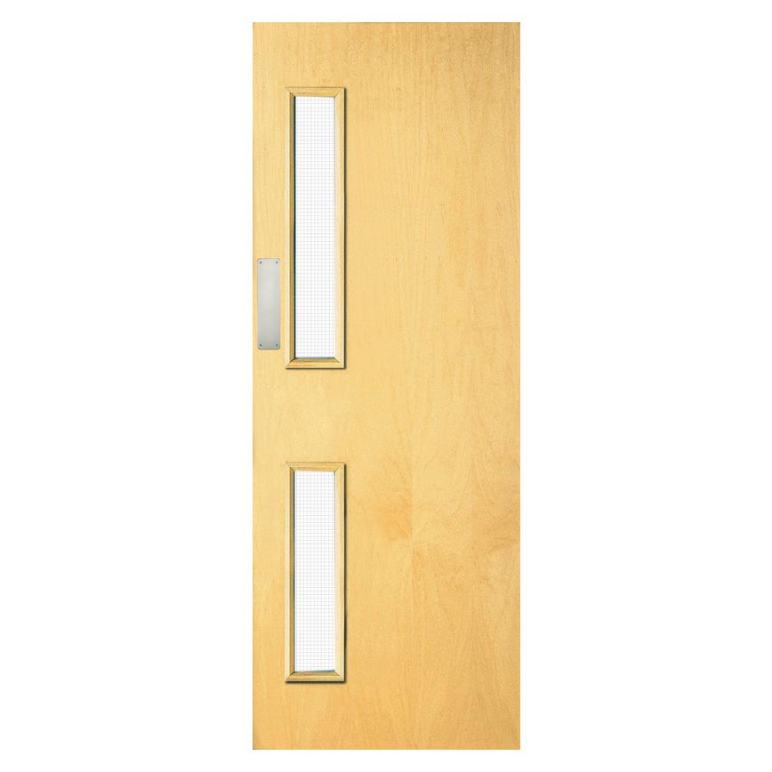 Ash Veneer Flush Internal Glazed Fire Door FD30